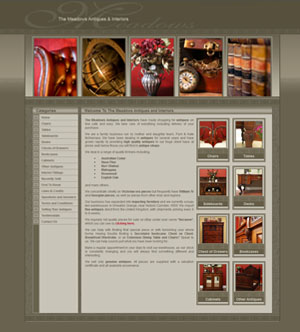 The Web Hub : Antiques and Interiors Website Design