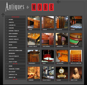 The Web Hub : Antiques and More Website Design