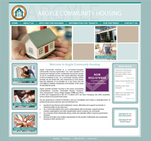 The Web Hub : Argyle Community Housing Website Design