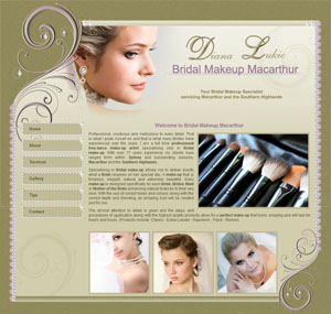 The Web Hub : Bridal Makeup Macarthur Website Design