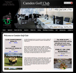 The Web Hub : Camden Golf Club Website Design