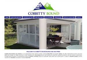 The Web Hub : Cobbitty Blinds Website Design