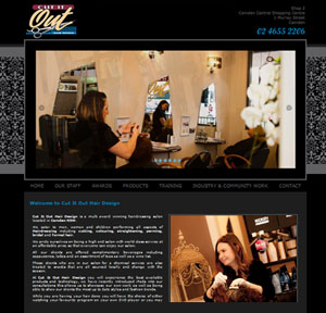The Web Hub : Cut It Out Hair Design Website Design