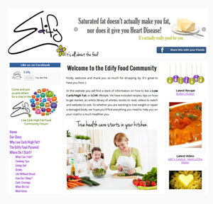 The Web Hub : Edify Food Network Website Design