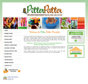 The Web Hub : Pitter Patter Markets Website Design