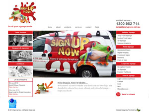 The Web Hub : Sign Up Now Website Design