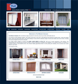 The Web Hub : TLC Blinds & Screens Website Design